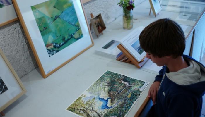 pays-alesia-seine-auxois-licorne-bleue-flavigny-ozerain-peinture-exposition-galerie-legende-illustration-enfant
