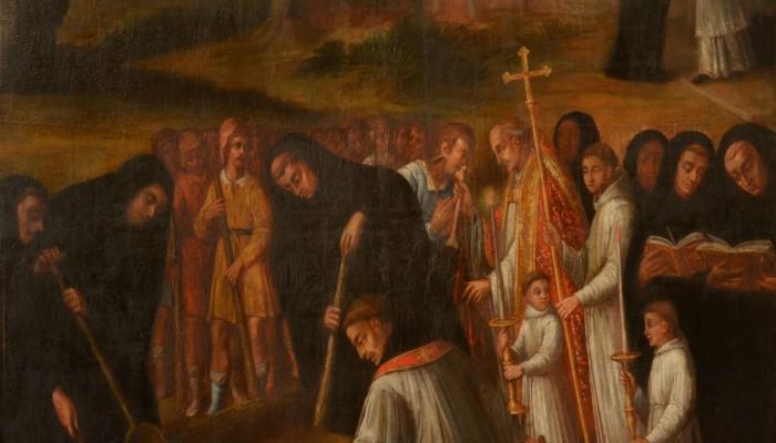 pays-alesia-seine-auxois-Abbaye-de-Flavigny-Fabrique-dAnis-tableau-relique-sainte-reine-hopital